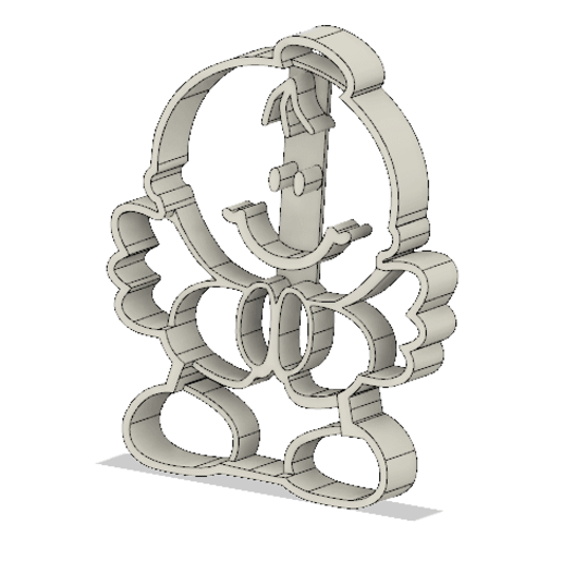 Download free 3D model Angel cookie cutter, andih256