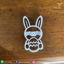 Conejo de pascuas 6 v1 (2).png Download STL file Easter Bunny Cookie Cutter • 3D print design, andih256