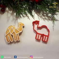 Download 3D printer designs Camel cookie cutter, andih256