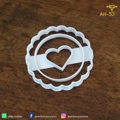 2.png Télécharger fichier STL Découpeur de biscuits en forme de coeur • Design pour imprimante 3D, andih256