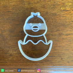 Pollito 1 v2 (2).png Download STL file Chick Cookie Cutter • Object to 3D print, andih256
