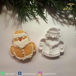 Papa Noel 2.jpeg Download STL file Santa Claus Cookie Cutter • 3D printer object, andih256