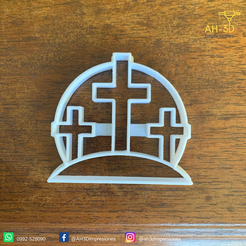 Cruces v1 (2).png Download STL file Crosses Cookie Cutter • 3D print object, andih256