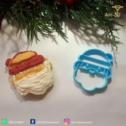 Papa Noel 1.jpeg Download STL file Santa Claus Cookie Cutter • 3D printer object, andih256