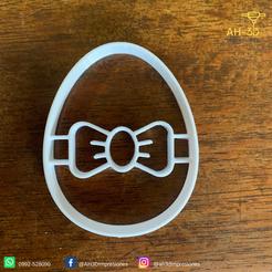 Huevo de pascuas 3 v1 (2).png Télécharger fichier STL Découpeur de biscuits aux œufs de Pâques • Modèle imprimable en 3D, andih256