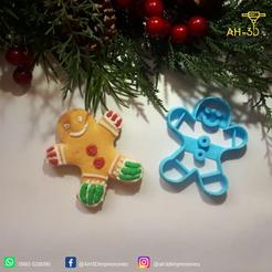 Hombre de jengibre.png Download STL file Gingerbread Man Cookie Cutter • 3D printing design, andih256