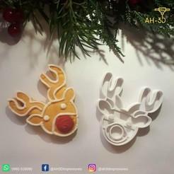 Reno 2.jpeg Download STL file Reindeer Cookie Cutter • 3D printer template, andih256