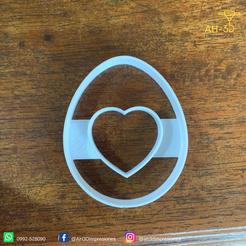 Huevo de pascuas 4 v1 (2).png Télécharger fichier STL Découpeur de biscuits aux œufs de Pâques • Modèle imprimable en 3D, andih256