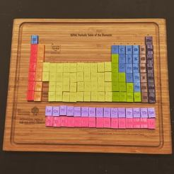 Download free 3D printing models Periodic Table of the Elements, makerwiz