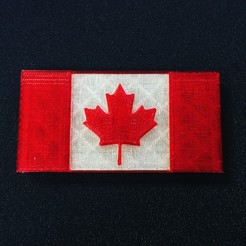 Download free 3D printer model Canada Flag - Maple Leaf, makerwiz