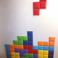 Download free 3D printer designs Tetromino Tile for Tetris Wall, makerwiz
