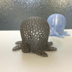octopi-2.jpg Download free STL file Voronoi Cute Octopus • 3D printing model, makerwiz