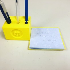 Download free STL files Pencil and Notepad Holder, makerwiz