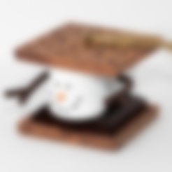 Download free 3D printer designs Marshmallow S'mores Christmas Ornament, Desktop_Makes