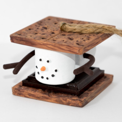 Free stl Marshmallow S'mores Christmas Ornament, Desktop_Makes