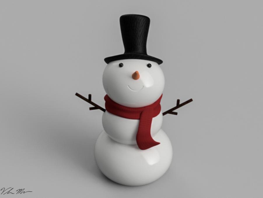 Capture d'écran 2016-12-19 à 11.10.51.png Download free STL file Snowman Ornament • 3D printing design, Desktop_Makes