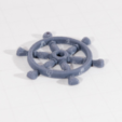 Download free STL files Ship Wheel Pendant, Desktop_Makes