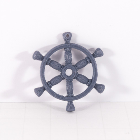 Free stl files Ship Wheel Pendant, Desktop_Makes