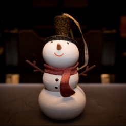 Download free STL file Snowman Ornament • 3D printing design, Desktop_Makes