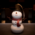 Download free 3D printer templates Snowman Ornament, Desktop_Makes