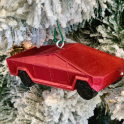 Download free STL files Tesla Cybertruck Christmas Ornament, Desktop_Makes