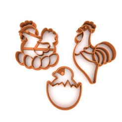 Download 3D model Cookie cutter pack - Easter 3D print model, slylis