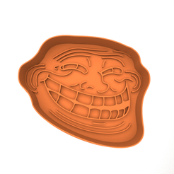 Download STL Cookie Cutter - Trollface 3D print model, slylis