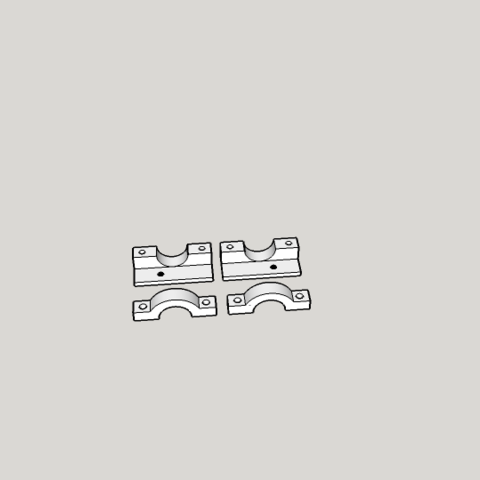 fixation T3PA thrusmaster ferrari integrale.png Download free STL file fixation for T3PA Thrusmaster ferrari integrale • 3D printer model, Stephane62