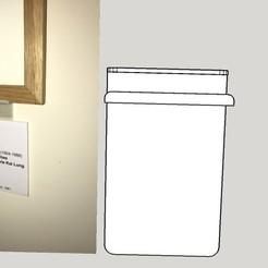 Modèle 3D gratuit Support cartel pour cadre en bois de 12 mm, Stephane62