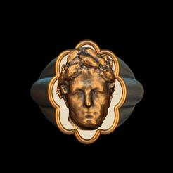 Télécharger modèle 3D Cesar bronze silver ring, plasmeo3d