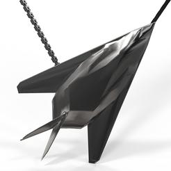 Download STL file Pendant F117 steel matt black, plasmeo3d