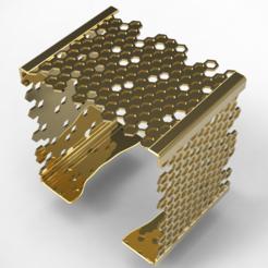 Download 3D printer templates Elegant Beehive Square Bracelet, plasmeo3d