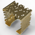 square-bracelet-hive2.PNG Download STL file Elegant Beehive Square Bracelet • 3D printable model, plasmeo3d