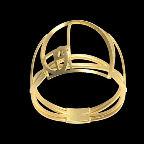 Fichier impression 3D gratuit Fancy Fibonacci ring , plasmeo3d