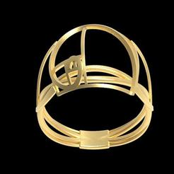 Free 3d printer designs Fancy Fibonacci ring, plasmeo3d