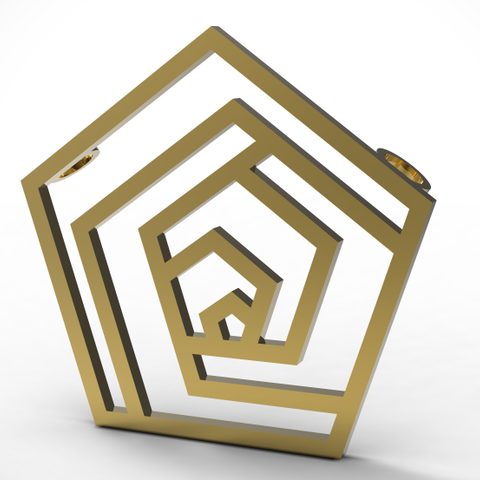 mirror-pentagone-pendant.PNG Download STL file Pentagon • 3D printable design, plasmeo3d