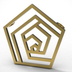 Télécharger fichier 3D Pendantif pentagone, plasmeo3d