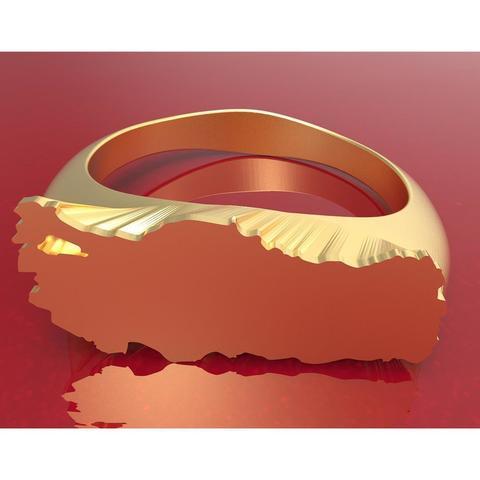 Türkyie ring insta 11.jpg Download STL file Turkey Ring • 3D printer object, plasmeo3d