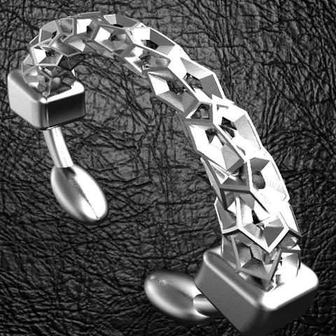 Download OBJ file Bouncing dodecahedron bracelet • 3D printing design, plasmeo3d