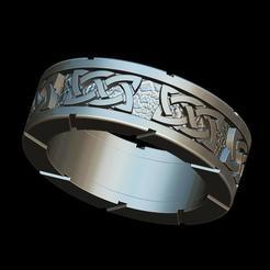 cr1I1.jpg Download STL file Celtic ring • 3D print model, plasmeo3d