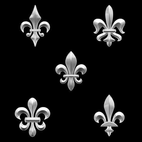 Diseños 3D Heradlry Pack Fleur-de-Lys para joyería, plasmeo3d