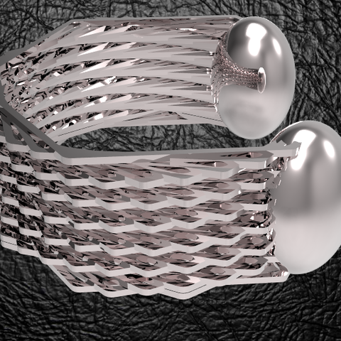 hexagone-bracelet-2-2.PNG Download STL file Hexagonal Bracelet 2 • 3D print object, plasmeo3d