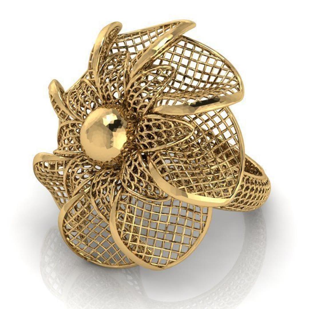 Flower ring 3 insta11.jpg Download STL file Flower ring 3 • 3D print template, plasmeo3d