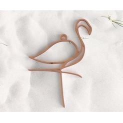 Modelos 3D para imprimir Flamencos rosados durante, plasmeo3d