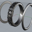Download STL file Two metals celtic ring - fem edition • 3D printing object, plasmeo3d