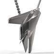 Download STL file Pendant F117 steel matt black • 3D printable template, plasmeo3d