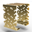 square-bracelet-hive21.PNG Download STL file Elegant Beehive Square Bracelet • 3D printable model, plasmeo3d