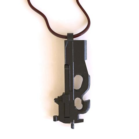 3d printer designs P90 rifle of the FN pendant, plasmeo3d