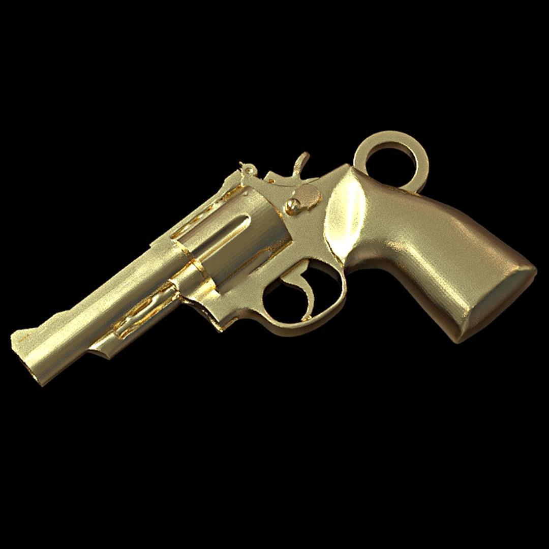 revolver pendant insta 21.jpg Download STL file Revolver during • Template to 3D print, plasmeo3d