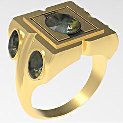 3D print files 5 oval gems mensring, plasmeo3d